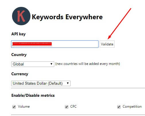 7 Keyword Everywhere - Keyword Tool Validate