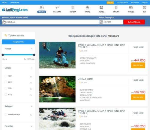 Paket Wisata Online di JadiPergi.com