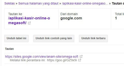 Gambar Backlink dari Google Sites