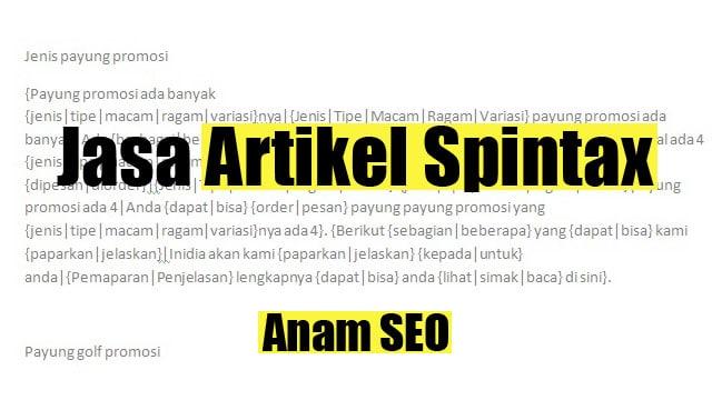 Jasa Artikel Spintax