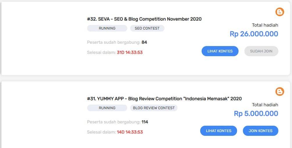 Kontes SEO Akhir Tahun 2020 SEVA ID